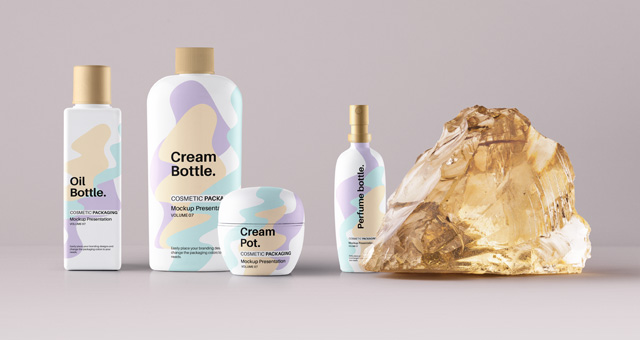 Psd Cosmetic Packaging Mockup Vol7 | Psd Mock Up Templates | Pixeden
