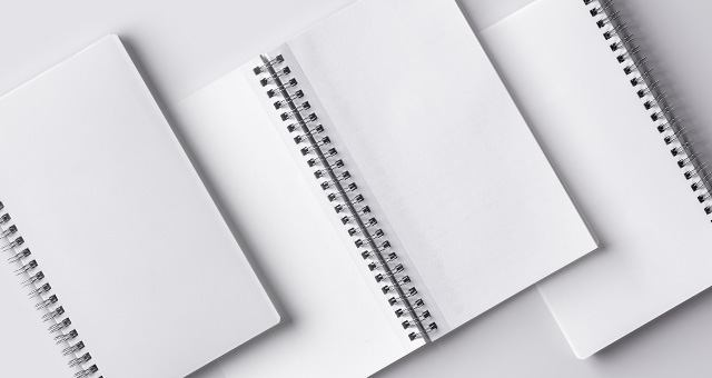 Psd Ringed Paper Notebook Mockup   Psd Mock Up Templates