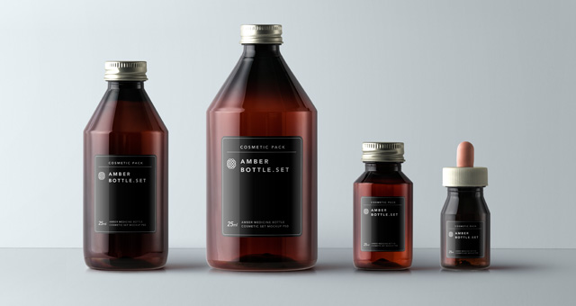 amber bottles cosmetic packaging