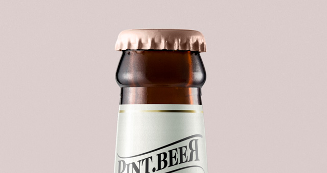 Amber Psd Beer Bottle Mockup