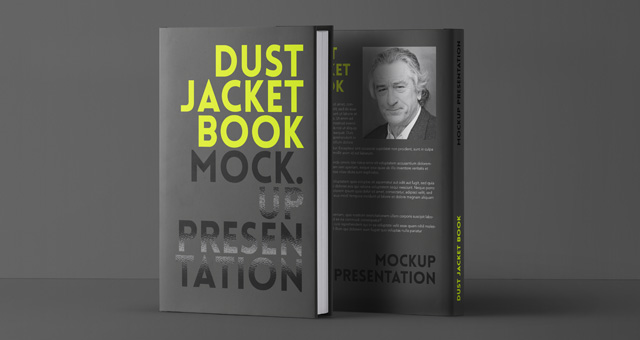Book Dust Cover Template : Psd dust jacket book mockup mock up templates pixeden