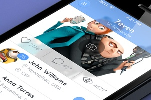 7even iPhone App UI Kit Psd