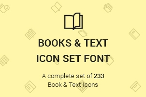 the-icons-font-set-books-and-text