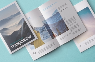 A4 Psd Magazine Booklet Mockup Vol3