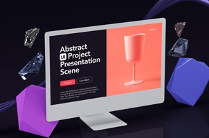 Abstract UI Project Scene Mockup 3