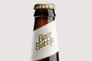 Beer Bottle Psd Mockup Template Vol2