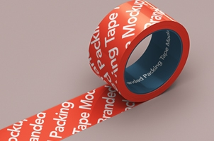 Branded Psd Packing Tape Mockup