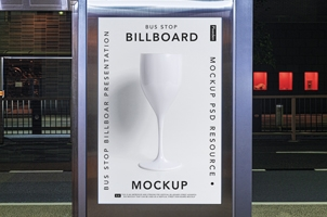 Bus Stop Psd Billboard Mockup