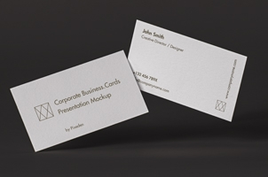 Corporate Psd Business Card Mockup