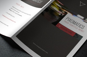 Modern Corporate Tri Fold Brochure Template