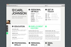 Resume Website Template a job seeker must present a catchy resume hence the need of the hour is to scout for creative options and this html5 resume template will help to put Creative Web Resume Template