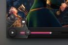 Dark UI Video Player Design Psd