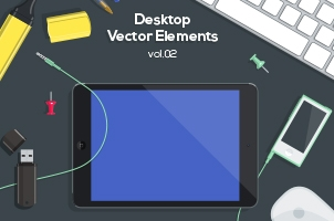 Desktop Flat Vector Objects Vol2
