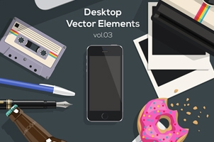 Desktop Flat Vector Objects Vol3