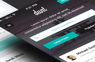Dunt iPhone App UI Kit Psd