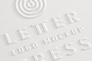 Embossed 3D Logo Mock-Up Template