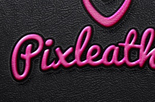 Embossed Leather Psd Text Effect