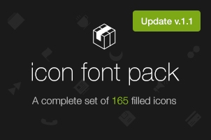 Filled 7 Icon Font Set v1.1