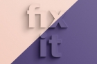 Fix It Psd Text Effect
