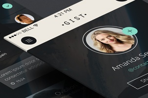 Gist iPhone App UI Kit Psd