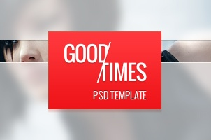 Good Times Magazine Psd Web Template