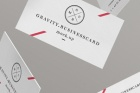 Gravity Psd Business Cards Mock-Up