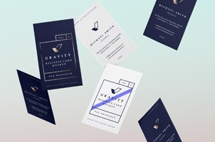Gravity Psd Business Cards Mock-Up Vol4