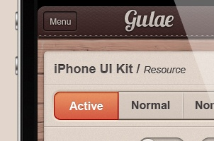 Gulae iPhone App UI Kit Psd