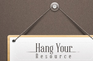 Hanging Note Sign Psd
