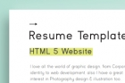 HTML Web Resume Template Model 1
