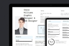 HTML Web Resume Template Model 2