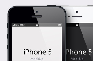 iPhone 5 Psd Vector Mockup Template