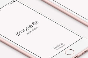iPhone 6s Psd Rose Gold Mockup