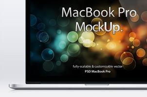 MacBook Pro Retina Psd Mockup