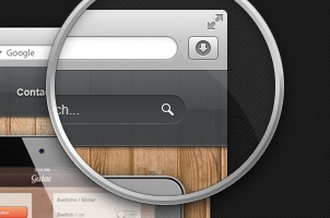 Magnifying Loupe Psd