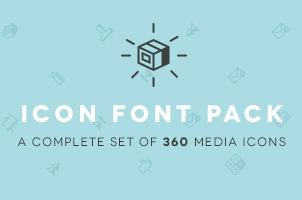 Media Icon Font Set