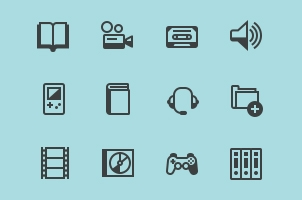 Media Icon Set Vol6
