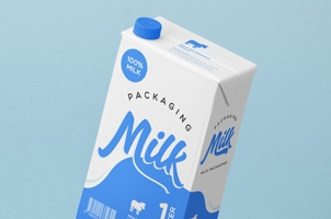 Milk Packaging Psd Mockup Vol4