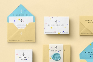 Mini Envelope Psd Mockup