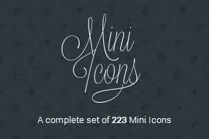 Mini Icon Font Set