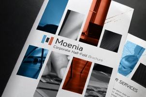 Moenia Bi Fold Brochure Template