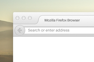 New Firefox Browser Psd Mockup