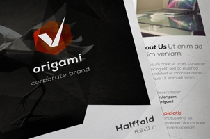 Origami Bi Fold Brochure Template