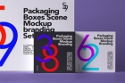 Packaging Box Psd Mockup Scene