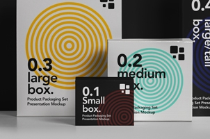 Packaging Psd Box Mockup Set 2