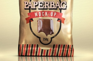 Paper Bag Mock-up Template Psd