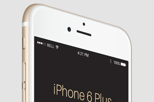 Perspective iPhone 6 Plus Psd Vector Mockup 2