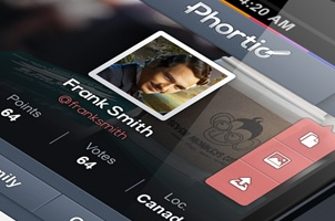 Phortio iPhone App UI Kit Psd