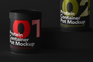 Protein Psd Container Mockup Set Vol2