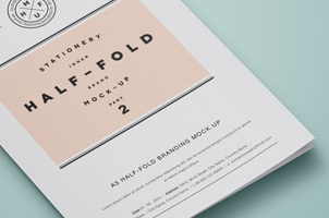 Psd A3 Half Fold Mock-Up vol2